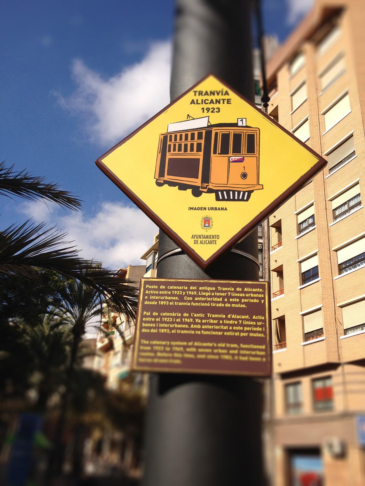 Placas para Tranvía Alicante - 1923