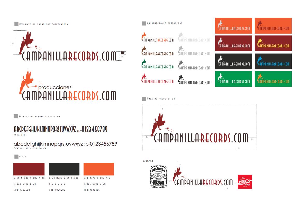 Identidad corporativa Campanilla Records.com