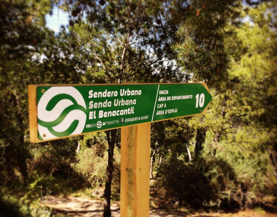 Señaletica direccional para Sendero Urbano