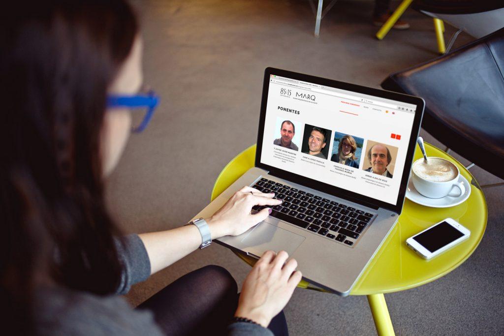 Diseño de web de congresos y reuniones científicas del MARQ