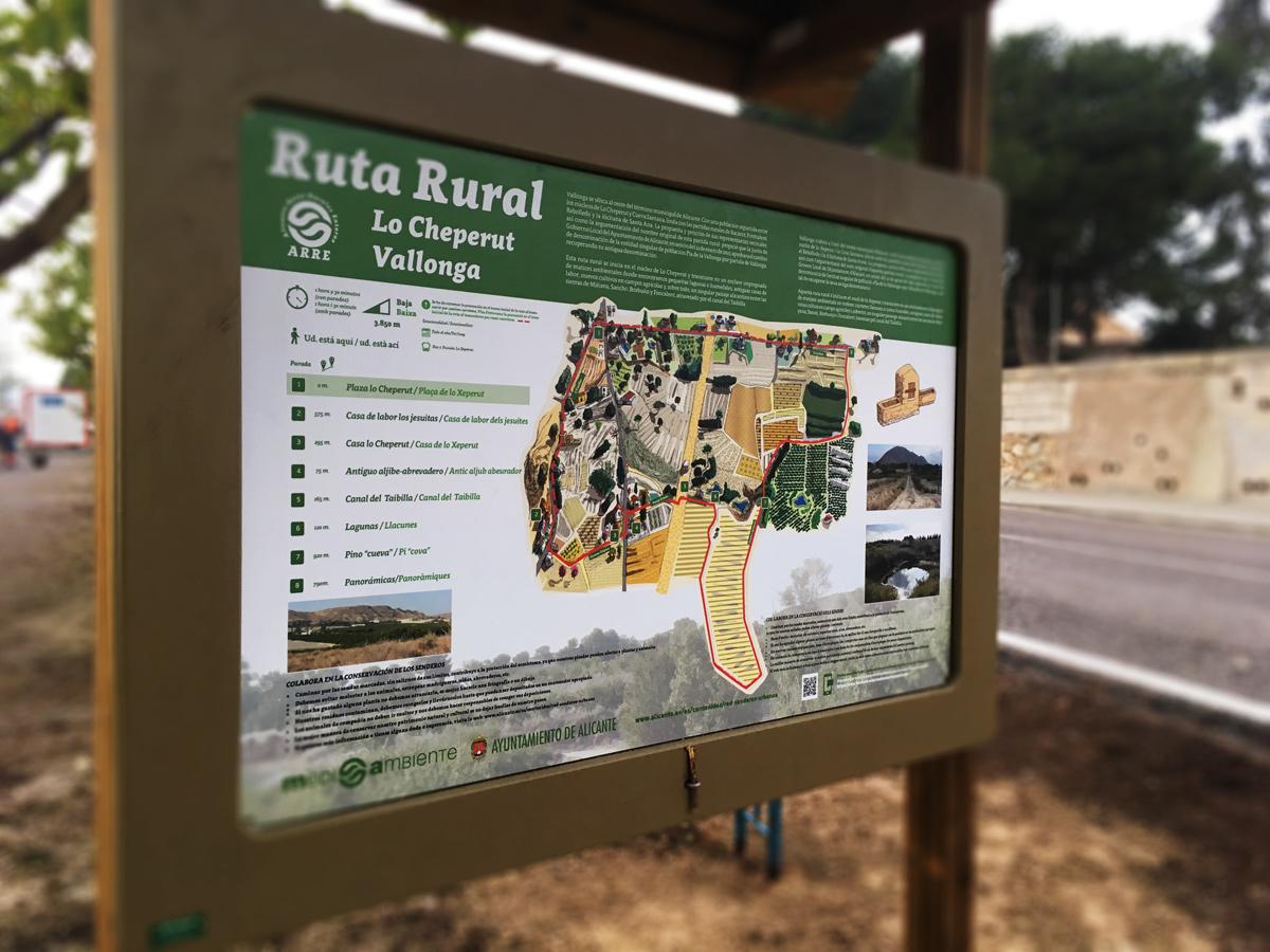 Diseño de paneles para señaletica de senderos rurales