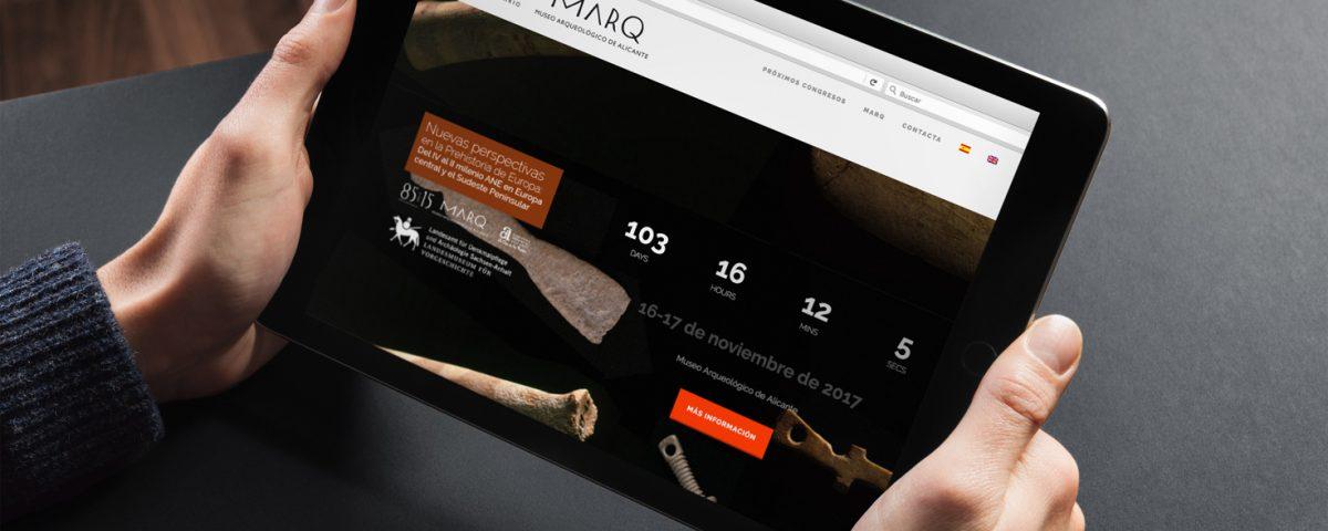 Diseño de Web de Reuniones Científicas del MARQ