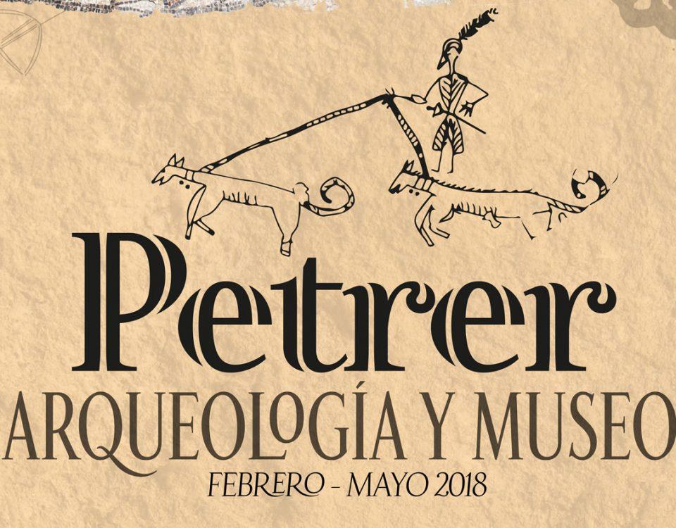 Logo Exposición Petrer, arqueología y museo