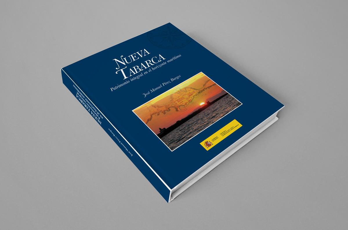Diseño de cubierta para el libro Nueva Tabarca - Patrimonio integral en el horizonte marítimo