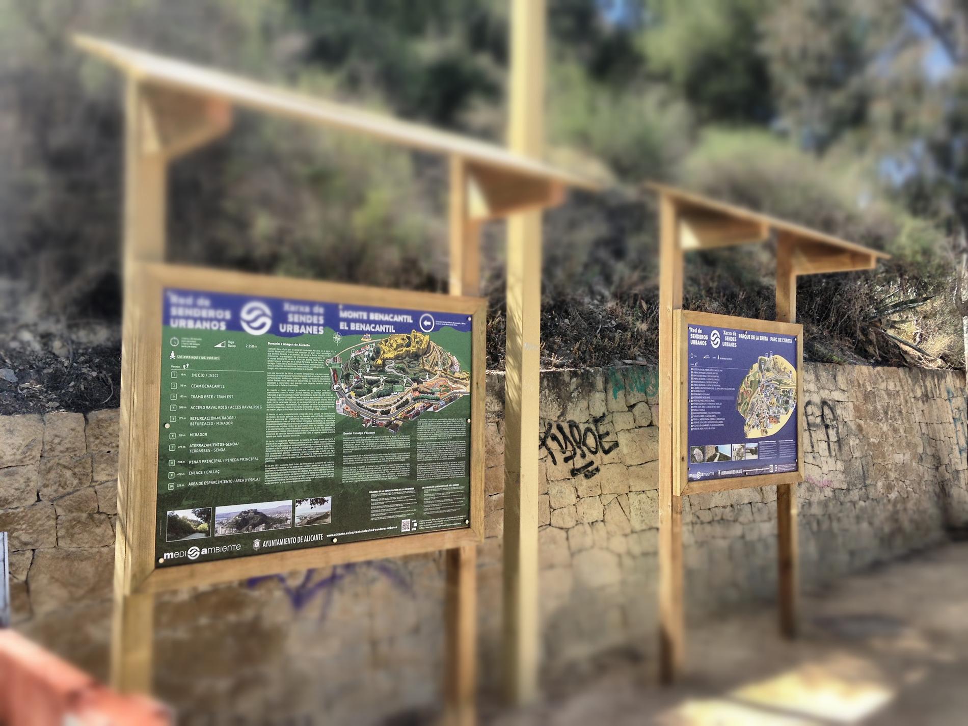 Senderos urbanos Benacantil y Parque de la Ereta