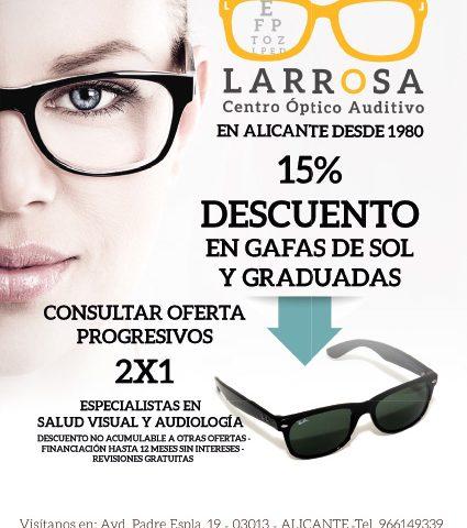 Publicidad Centro Optico Auditivo Larrosa