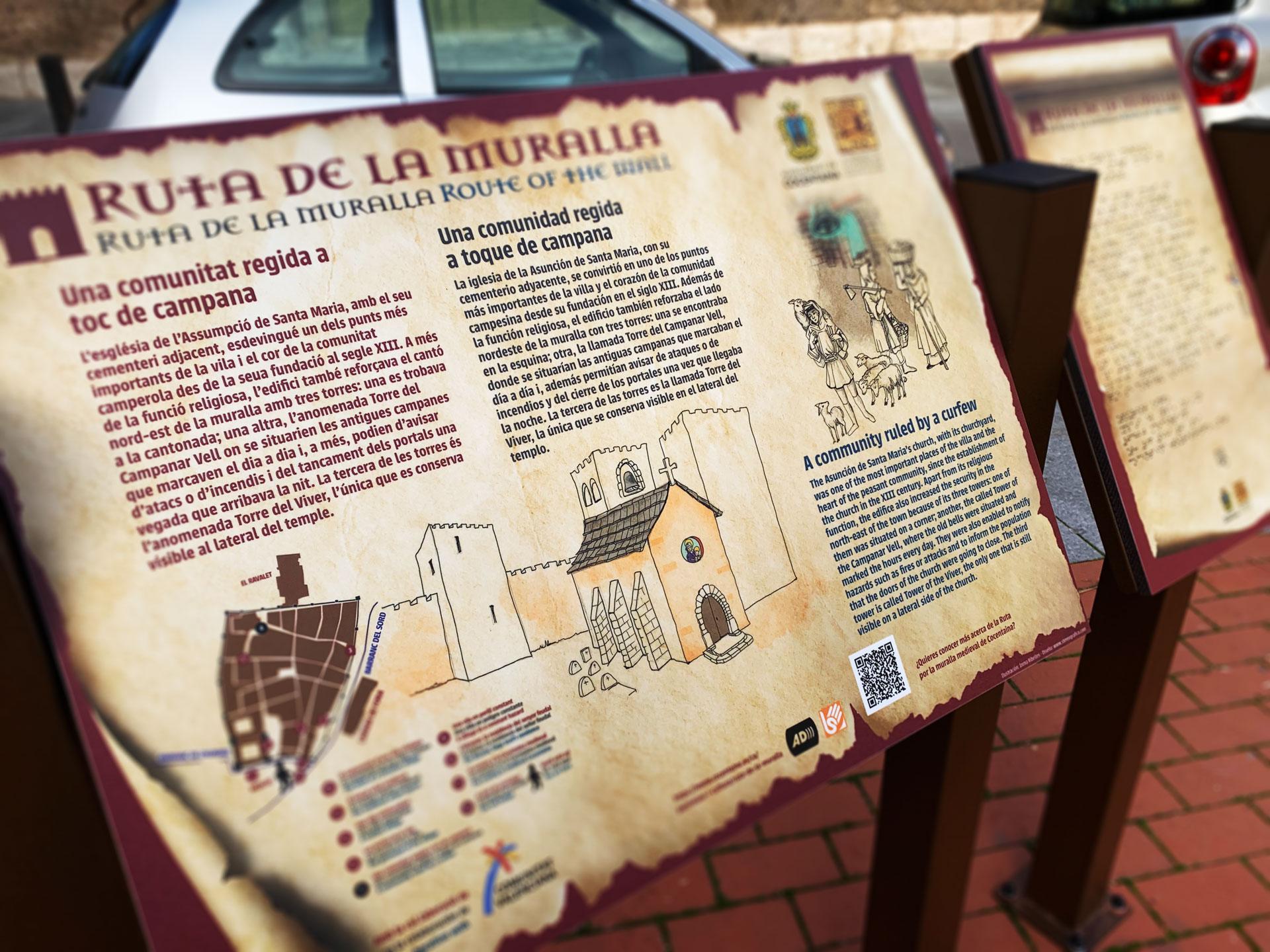Paneles para la Ruta de la Muralla en Cocentaina